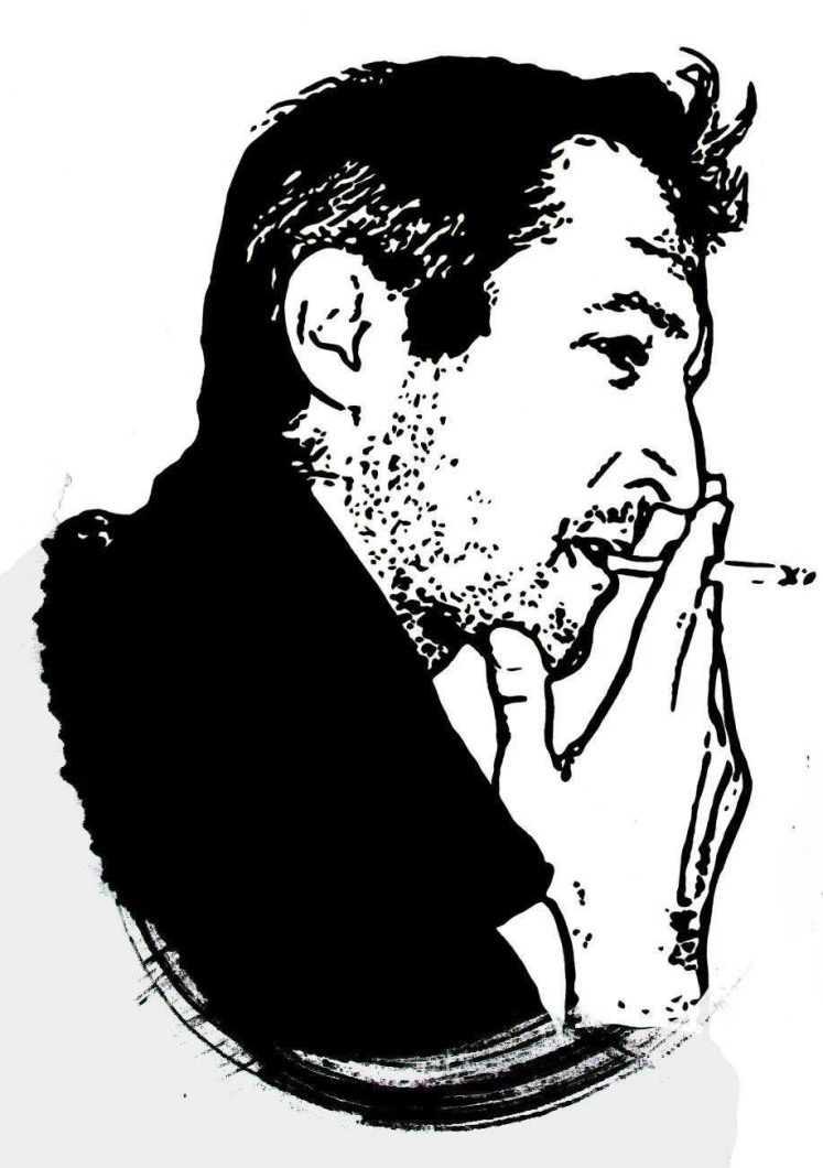 Portretul poetului Emilian Pal in viziunea artistei Maria PopArt