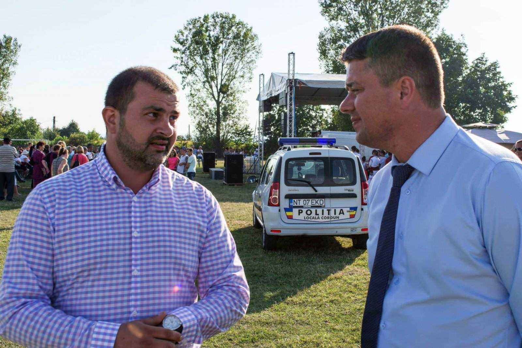 Cordun viceprimar Ioan Tiron - primar Adrian Ciobanu