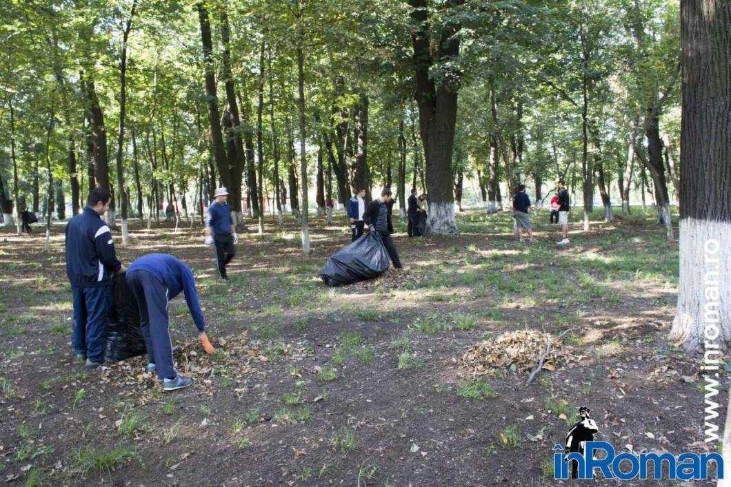 Franciscani curatenie parc 2