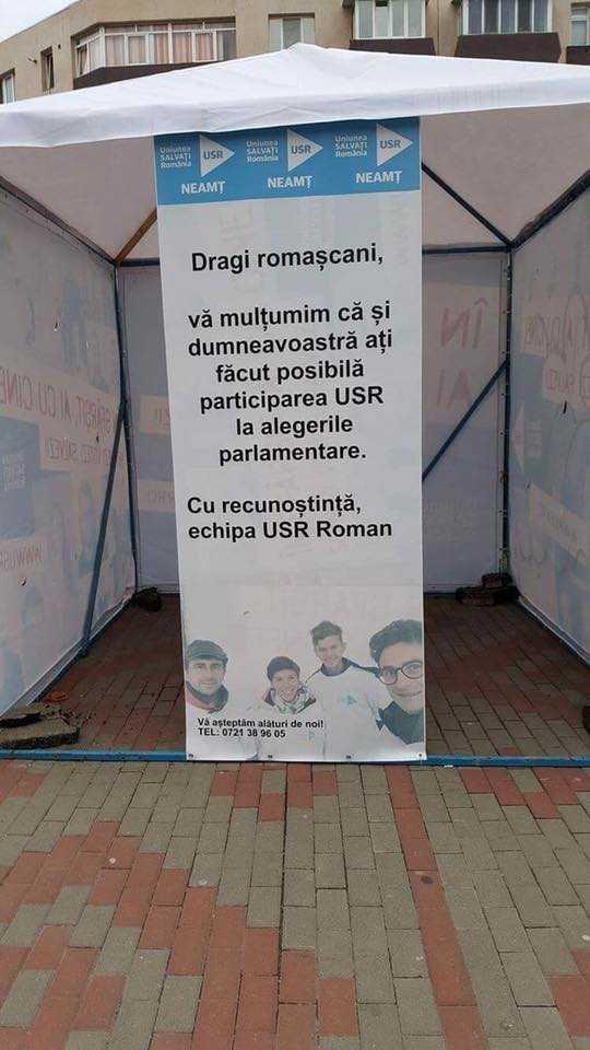 USR mulțumește romașcanilor
