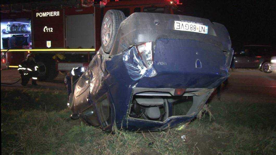 accident E85 intersectie cu Tamaseni 1
