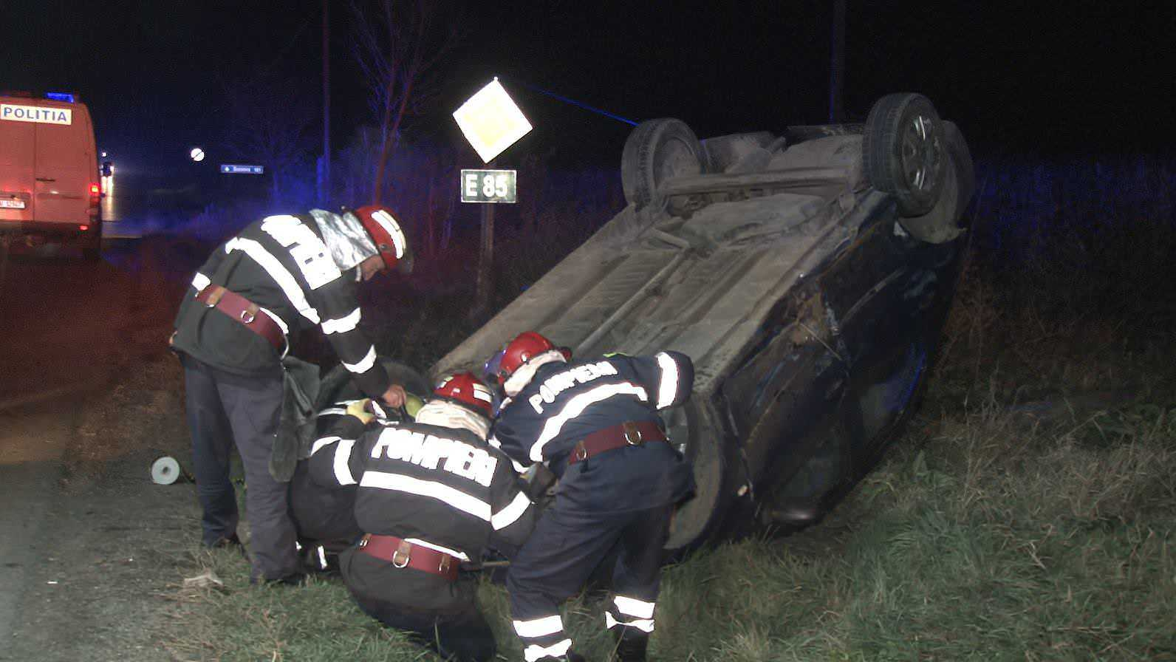 accident E85 intersectie cu Tamaseni 5