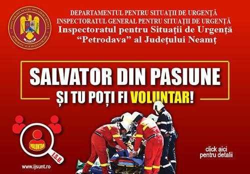 """Pompierii nemțeni caută """"salvatori din pasiune"""""""