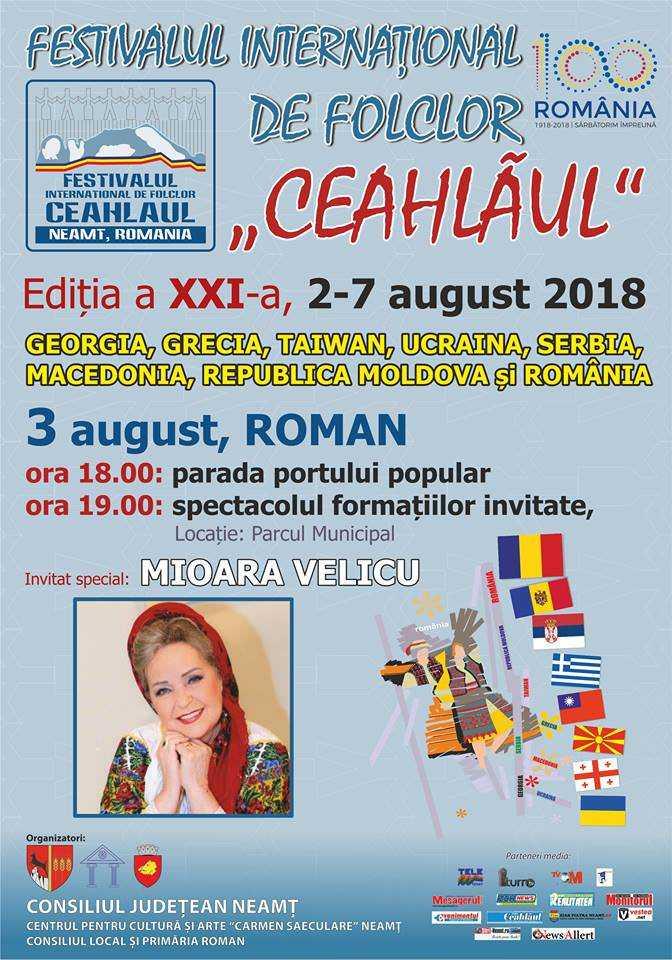 Afis festival Ceahlau Roman