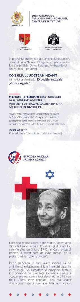 Invitatie Palatul Parlamentului Viorica Agarici