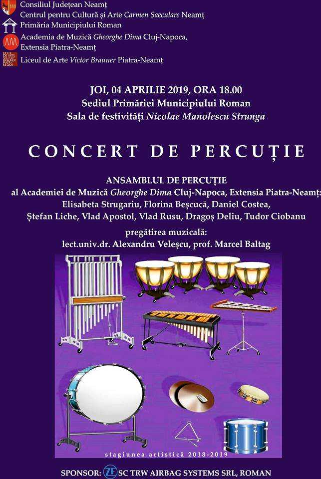 Concert de percuție la Roman