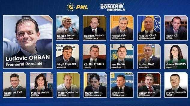 Cine sunt miniștrii propuși de premierul desemnat Ludovic Orban în Guvernul PNL 1