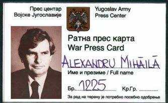 Alexandru Mihaila legitimatie