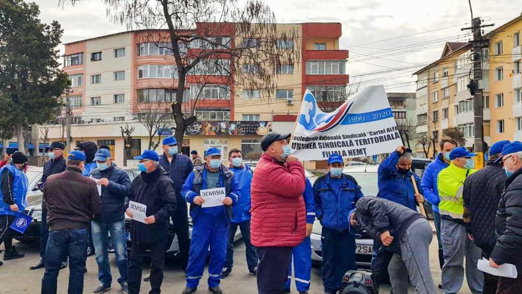 Protest Apa Serv Piatra Neamț